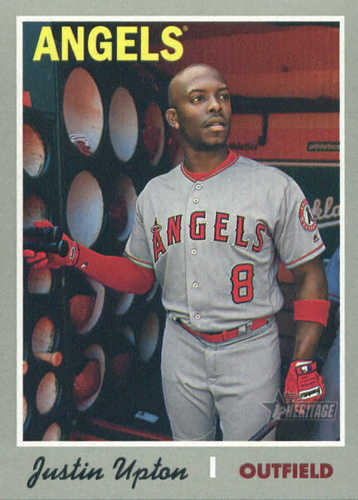 Photo of 2019 Topps Heritage #421 Justin Upton SP