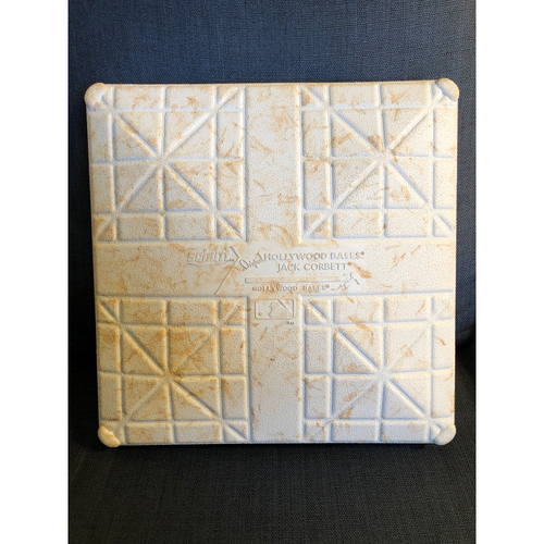 Photo of Game-Used 1st Base: 2020 World Series - Tampa Bay Rays vs. Los Angeles Dodgers - Game 1: Innings 1-3