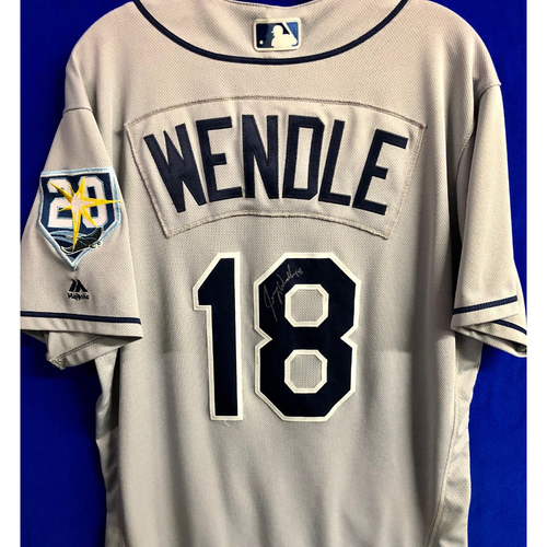 Photo of Team Issued 20th Anniversary Autographed Jersey: Joey Wendle