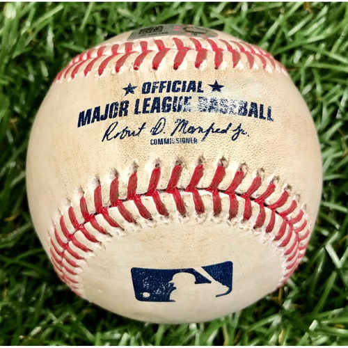 Game Used Baseball: Starling Marte single off Pete Fairbanks - September 6, 2020 v MIA