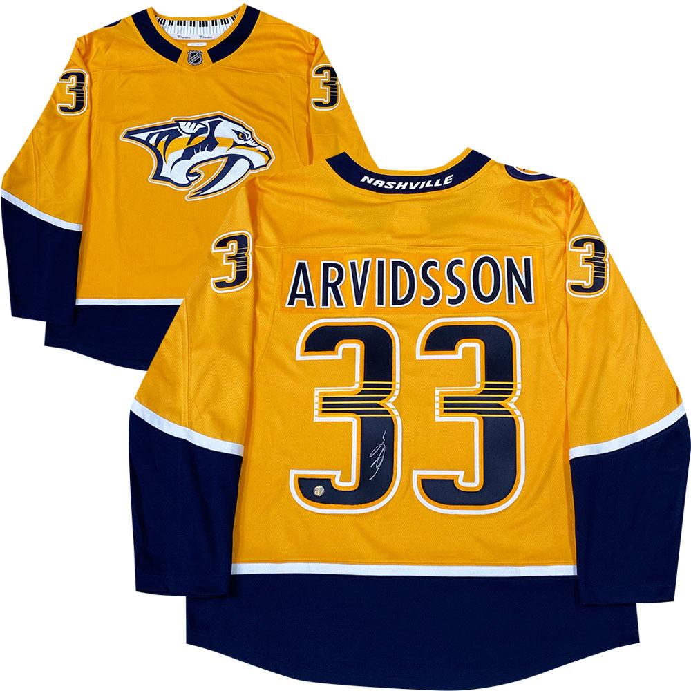 Viktor Arvidsson Autographed Nashville Predators Fanatics Jersey