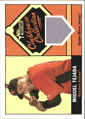 Photo of 2010 Topps Heritage Clubhouse Collection Relics #MT Miguel Tejada
