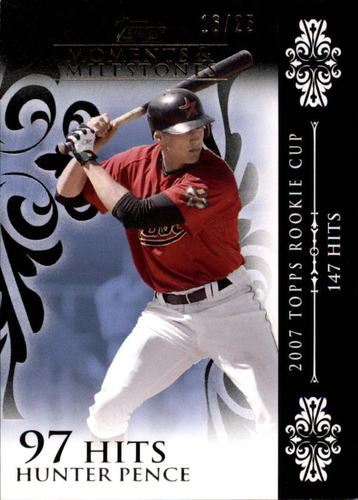 Photo of 2008 Topps Moments and Milestones Black #10-97 Hunter Pence