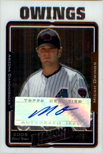Photo of 2005 Topps Chrome Update #235 Micah Owings FY AU B RC