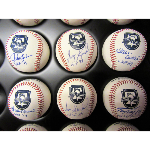 Photo of Phillies Wall of Fame Autographed Baseball Set