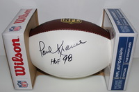 HOF - VIKINGS PAUL KRAUSE SIGNED PANEL BALL