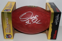 CHIEFS - DERRICK JOHNSON SIGNED AUTHENTIC FOOTBALL