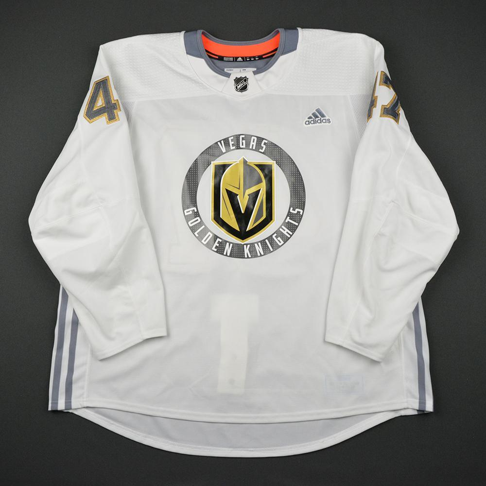 Luca Sbisa Warmup Worn/Autographed Practice Jersey - Vegas Golden Knights