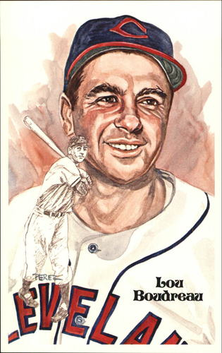 Photo of 1980-02 Perez-Steele Hall of Fame Postcards #115 Lou Boudreau  -- HOF Class of 1970