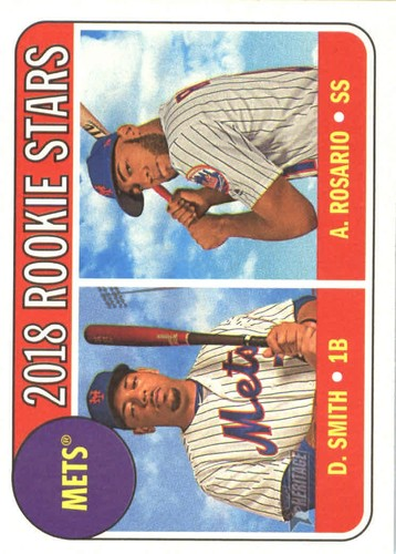 Photo of 2018 Topps Heritage #31 Dominic Smith RC/Amed Rosario RC