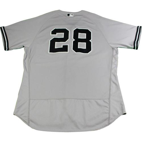 Joe Girardi New York Yankees 2017 Game Used  28 Grey Jersey (Cool Base) bc9ac3eb222