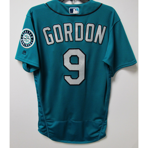 Photo of Seattle Mariners Dee Gordon 2018 Game Used Green Jersey (6/1/18 vs. Rays)