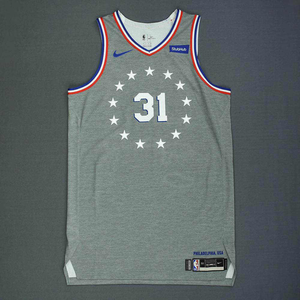 on sale a1143 66bca Mike Muscala - Philadelphia 76ers - Game-Issued City Edition ...