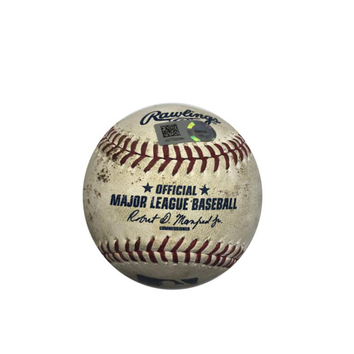 Photo of Game-Used Baseball: 08/09/2016 Pirates vs. Padres: C. Kuhl vs. A. Dickerson, RBI Double