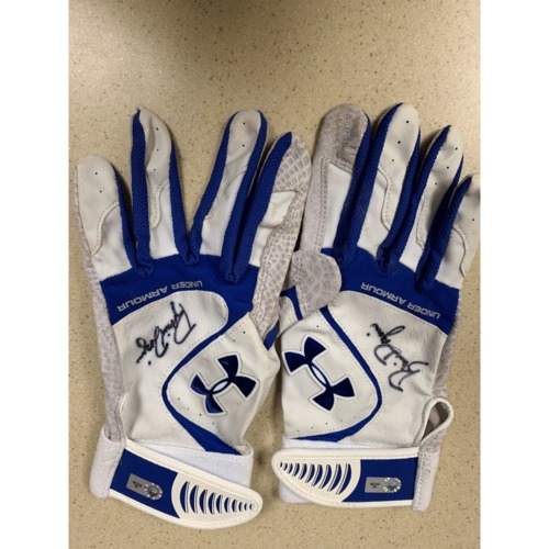 Photo of Minnesota Twins - Brian Dozier Game-Used Batting Gloves