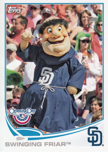 Photo of 2013 Topps Opening Day Mascots #M10 Swinging Friar