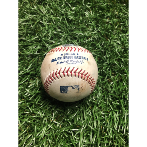 Game Used Baseball: Travis d'Arnaud strike out and Tommy Pham foul ball off Chris Sale - July 23, 2019 v BOS