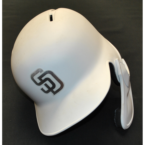 "Photo of Ty ""FRENCHY"" France San Diego Padres Game-Used 2019 Players' Weekend Helmet"