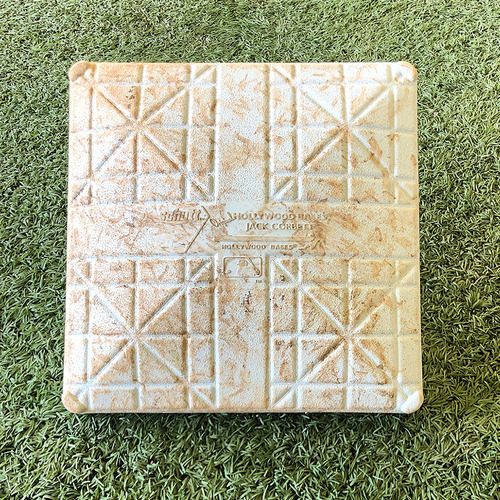 Photo of Game Used Base - J.D. Davis Hits 19th Home Run - 1st Base - Innings 1-3 - Mets vs. Dodgers - 9/13/19