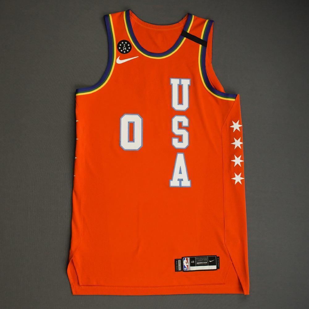 Miles Bridges - 2020 NBA Rising Stars - Team USA - Game-Worn 1st Half Jersey - Most Valuable Player