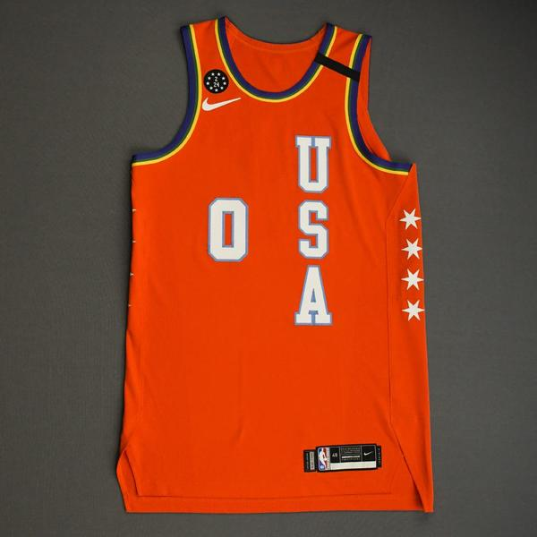 Image of Miles Bridges - 2020 NBA Rising Stars - Team USA - Game-Worn 1st Half Jersey - Most Valuable Player