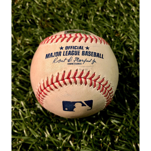 Photo of Game Used Baseball: Joey Wendle triple off Nathan Eovaldi - Joey Wendle's First Triple of 2020 - August 4, 2020 v BOS