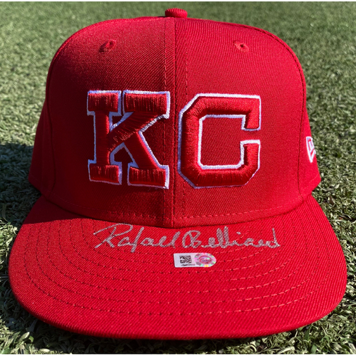 Photo of Autographed/Team-Issued Hat: Rafael Belliard #8 (STL @ KC 9/22/20) - Size 7 1/8