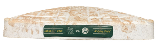 Photo of Game-Used 3rd Base -- Used in Innings 1 through 7 -- Games 1 and 2 -- Cardinals vs. Cubs -- 8/17/20