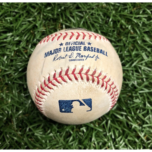 Photo of Opening Day Game Used Baseball: Michael Brantley single off Blake Snell - Top 6 - March 28, 2019 v HOU