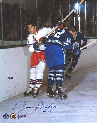 JIM NEILSON New York Rangers Action SIGNED 8x10 Photo