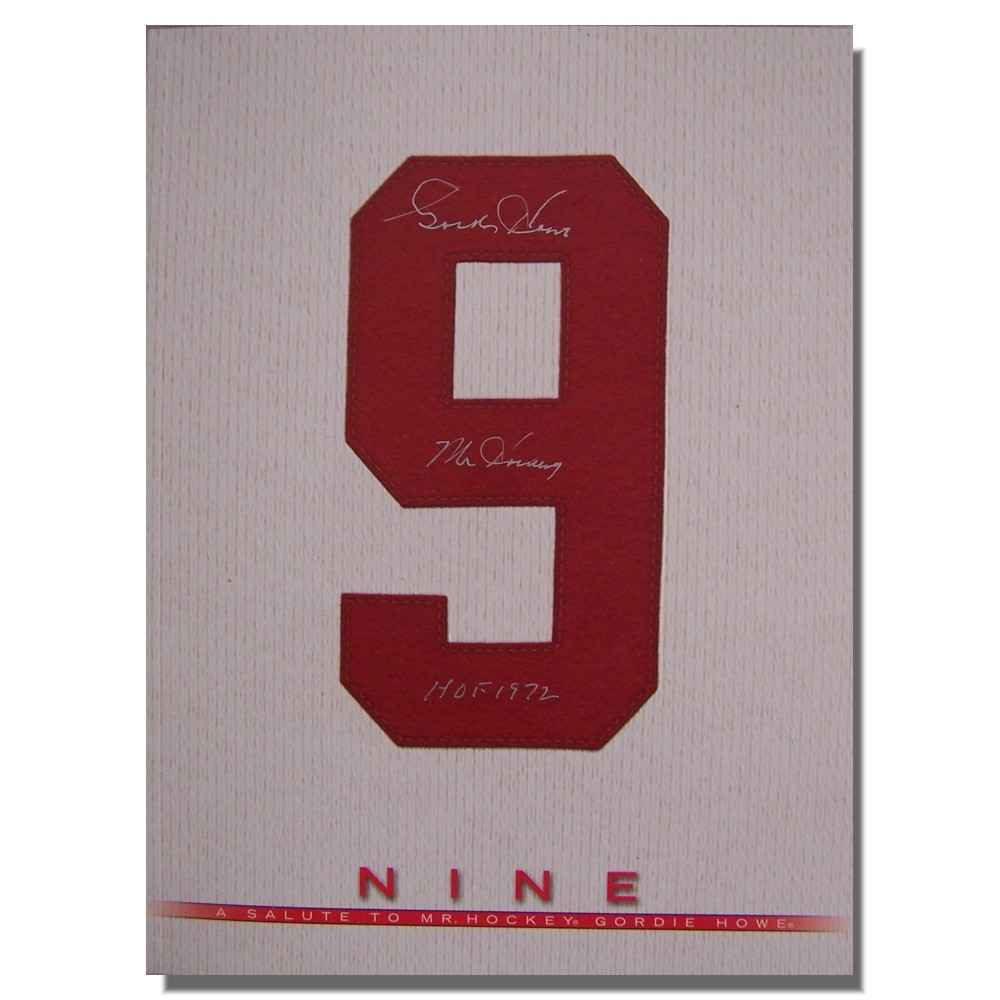 Gordie Howe Autographed Copy of Nine: A Salute to Mr. Hockey Gordie Howe - Detroit Red Wings