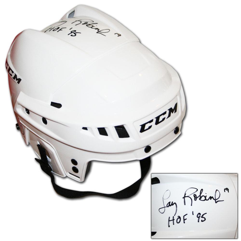 Larry Robinson Autographed CCM Hockey Helmet w/HOF 95 Inscription
