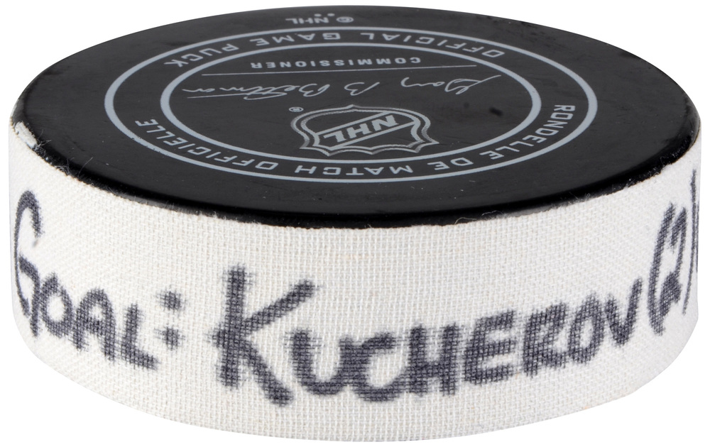 Nikita Kucherov Tampa Bay Lightning Atlantic Division 2018 NHL All-Star Game Goal Puck vs. Metropolitan Division - Second Goal of Three Goals Scored
