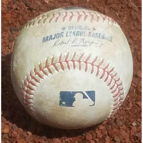 Photo of 2018 Game-Used Baseball: Jake Arrieta Strikeout