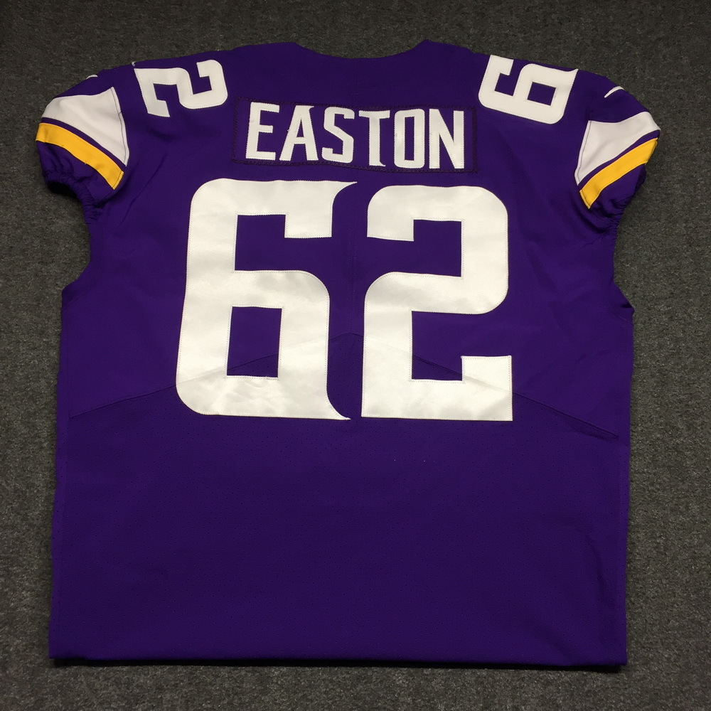 best service afc58 91c6b NFL Auction | LONDON GAMES - VIKINGS NICK EASTON GAME WORN ...