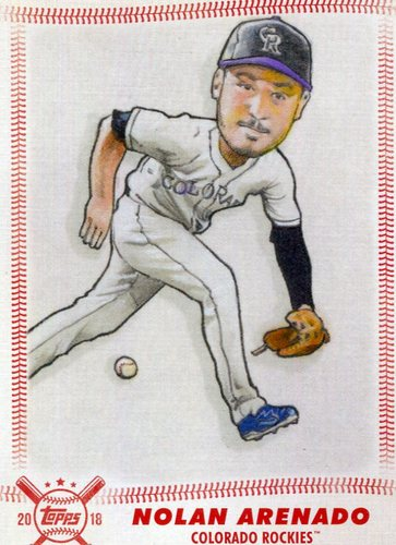 Photo of 2018 Topps Big League Star Caricature Reproductions #SCRNA Nolan Arenado