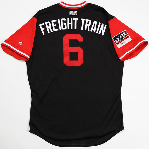 "Photo of David ""Freight Train"" Peralta Arizona Diamondbacks Game-Used Players' Weekend Jersey"