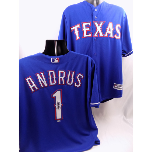 Photo of Autographed Jersey - Elvis Andrus
