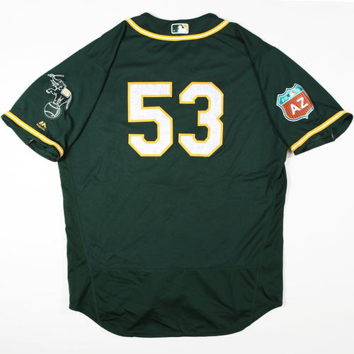 Photo of 2016  Spring Training -  Game-Used Jersey - Felix Doubront (A's) - Size 50