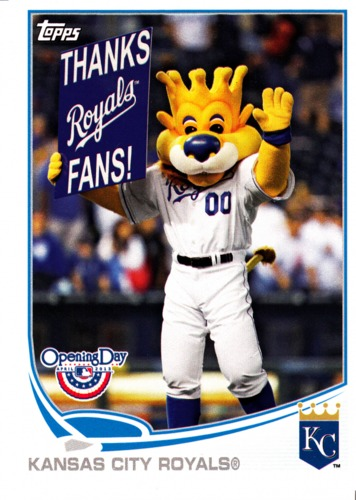 Photo of 2013 Topps Opening Day Mascots #M21 Kansas City Royals
