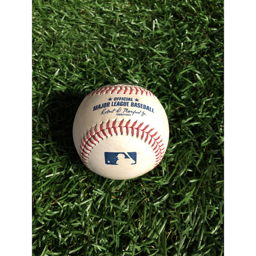 Photo of Game Used Baseball: Joc Pederson RBI single off Chaz Roe - May 21, 2019 v LAD