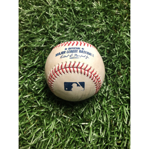 Photo of Game Used Baseball: Andrew Benintendi RBI single off Yonny Chirinos - July 23, 2019 v BOS