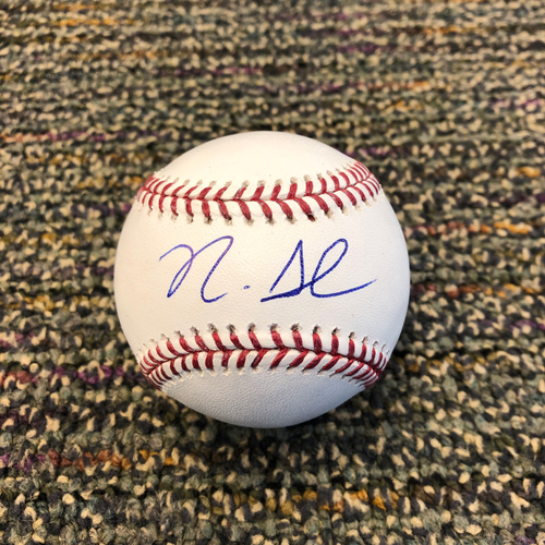 Photo of Buster Posey BP28 Foundation - Autographed Baseball signed by Cincinnati Reds Rookie Center Fielder Nick Senzel