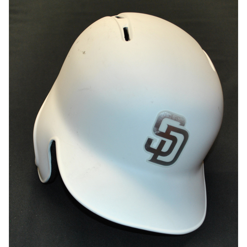 "Photo of Austin ""DOUBLE AA"" Allen San Diego Padres Game-Used 2019 Players' Weekend Helmet"
