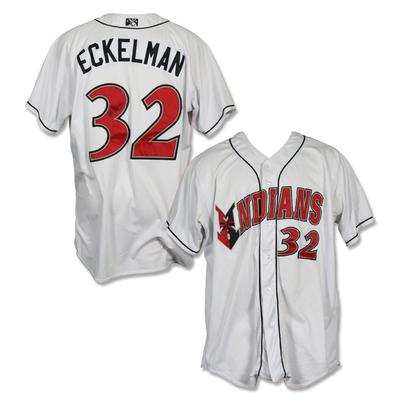 #32 Matt Eckelman Autographed Game Worn Home White Jersey
