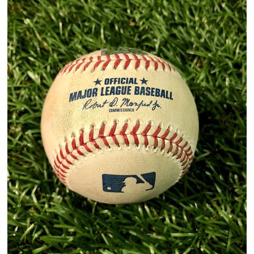 Photo of Game Used Baseball: Alex Verdugo single off Charlie Morton - August 4, 2020 v BOS