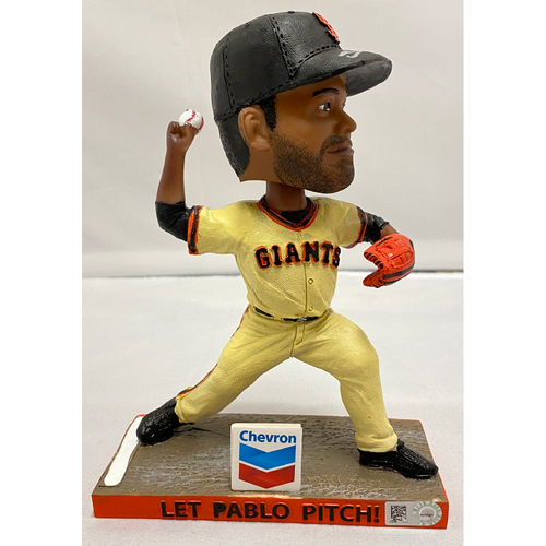 "Photo of 2020 Black Friday Sale - 2019 Autographed Pablo Sandoval ""Let Pablo Pitch"" Bobblehead signed by #48 Pablo Sandoval"