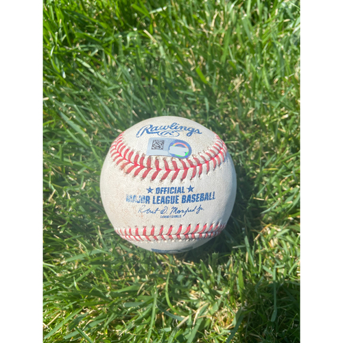 Cardinals Authentics: Game Used Baseball Pitched by Eric Yardley to Dylan Carlson *Double*