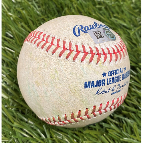 Photo of Ryan Zimmerman Single Baseball from 2021 Opening Day - 4/6/2021 vs. ATL