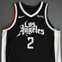 Kawhi Leonard - Los Angeles Clippers - Game-Worn City Edition Jersey - Recorded a Double-Double - 2021 NBA Playoffs